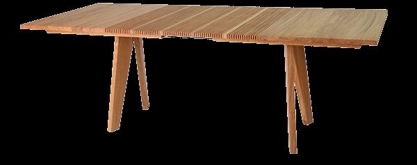 Lignum Arts der flexible Ziehharmonika Tisch mit Lamellen